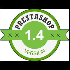 Compatible avec PrestaShop 1.4