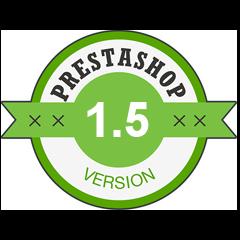 Compatible avec PrestaShop 1.5